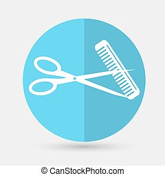 scissors icon on a white background