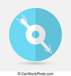arrow target on a white background - arrow target