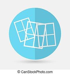Window icon on a white background - Window icon