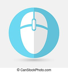 computer mouse icon on a white background - computer mouse...