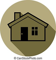 Simple house detailed illustration. Vector conceptual icon, real estate emblem.  Building modeling and engineering projects abstract symbol.