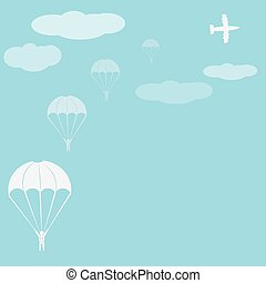 Parachute sport illustration