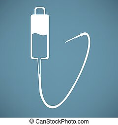 Intravenous therapy system icon.Medical dropper