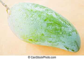 Thai natural giant green mango, stock photo