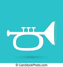 Vector illustration of trumpet