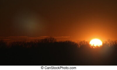 Midwestern Sunset Time-lapse - Beautiful and serene...