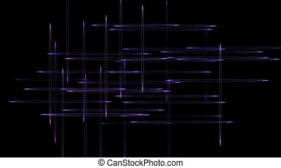 Vertical and horizontal lines moving on a black background