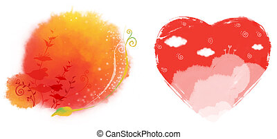 watercolour painting of heart - beautiful watercolour...