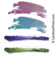 watercolor brushwork - painting drawing of watercolor...