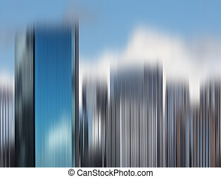 Blurred City Skyline Background. View of Sydney skyline