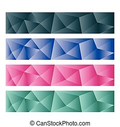 abstract horizontal banner templates vector illustration