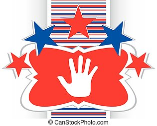 hand icon on web button vector