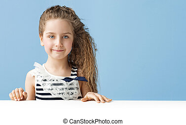 Portrait of a little cute girl - Portrait of a little cute...