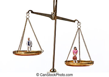 Dolls on Balancing Scales - Dolls on balancing scales....