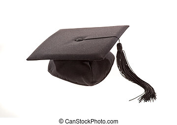Graduation Cap - Graduation cap with tassel. Horizontally...