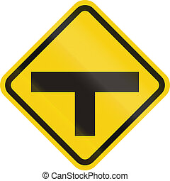 Intersection Ahead In Colombia - Colombian road warning...