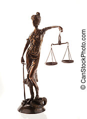 Scales of Justice Sculpture - Sculpture of the scales of...