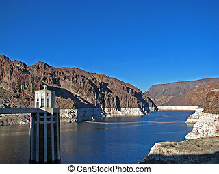 Hoover Dam on the Nevada Arizona Border