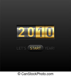 New Year counter - Vector illustration of New Year counter...