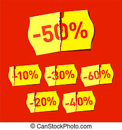 Discount stickers - Vector illustration of discount stickers...