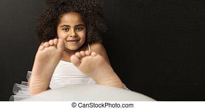 Portrait of a smiling ballet dancer - Portrait of a little...