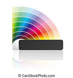Color guide - Vector illustration of a color formula guide