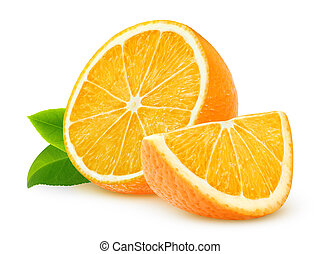 Oranges - Cut oranges isolated on white