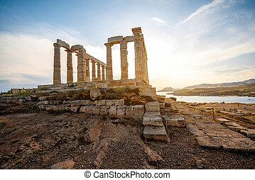 Poseidon, templo, en, grecia,