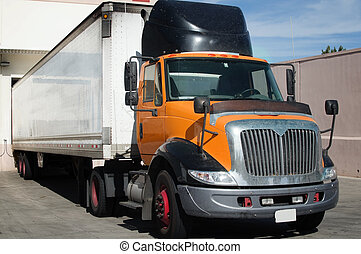 Heavy goods cargo truck - Heavy goods gargo  truck