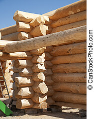 Part of building a new Log Home - Part of a new Log Home