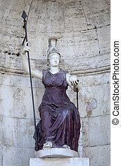 Statue Dea Roma in Rome, Italy - Piazza del Campidoglio -...