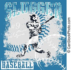 baseball slugger - baseball vector illustration for shirt...