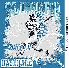 baseball slugger - baseball vector illustration for shirt...