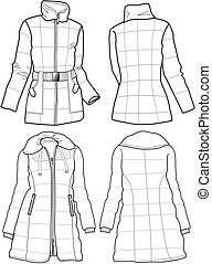 lady quilted jacket