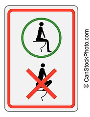 toilet rules - a sign for the toilet for foreign travelers
