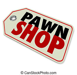 Pawn Shop Price Tag Second Hand Resale Store - Pawn Shop...