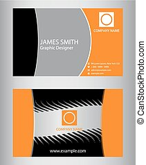 Two vertical business cards