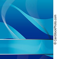 Abstract background in blue green