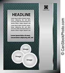 Business flyer design, broshure cover template