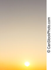 Sunset sky stratosphere background.
