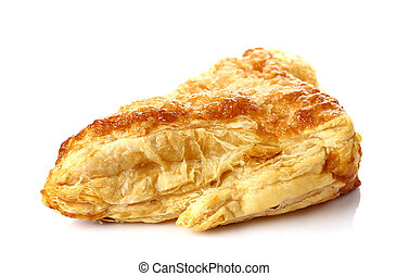 Puff pastry isolate on white