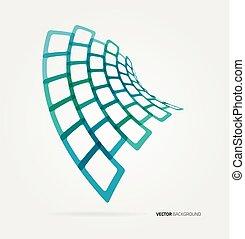 formas, abstratos, vetorial, modelo, onda
