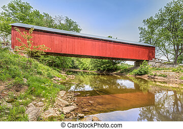The James Covered Bridge - The historic red James Covered...