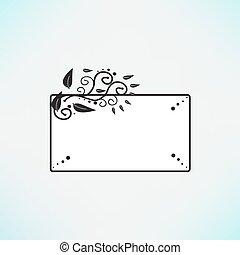 decorative frame. Vector illustration