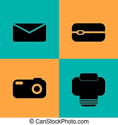 Vector Communication flat icons set