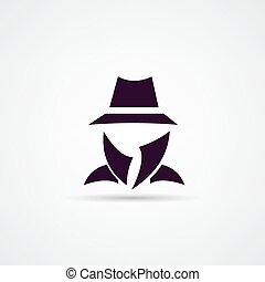 Man in suit. Secret service agent icon