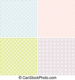 Vector set of 4 background patterns - Vector set of 4 pastel...