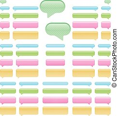 Chat bubbles - Set of app chat bubbles, left and right in...