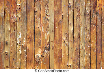 Wood wall - A close-up details of the wood wall