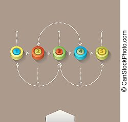 Vector colored numbers (elements for design and business)
